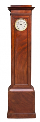 A good French mahogany year-going longcase regulator, Aimé Jacob No. 7, circa 1830