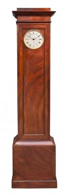 A good French mahogany year-going longcase regulator, Aimé Jacob No. 7, circa 1830