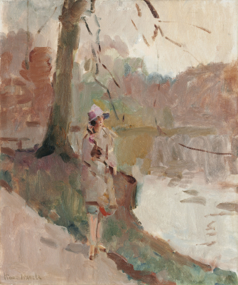 Lady in The Hague Forest - Isaac Israëls