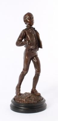'Boy with frigian hat', patinated bronze signed P. Stotz, circa 1900.