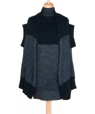 Issey Miyake Vintage Cotton Knit Dress w Sweater - Issey Miyake