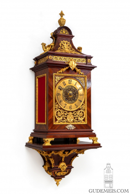A rare French gilt bronze mounted kingswood bracket clock by Planchon, circa 1890