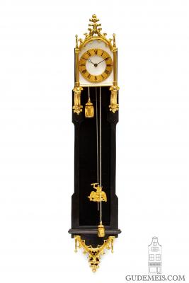 a miniature Austrian neo gothic brettl wall clock, circa 1840