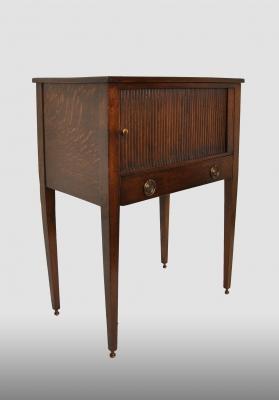 Dutch pedestal cupboard, made of oak.