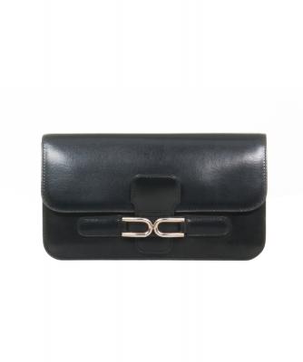 Delvaux Vintage Black Leather Continental Wallet - Delvaux