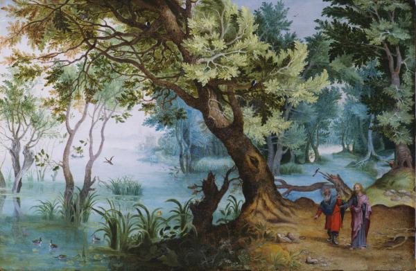 The Temptation of Christ - Flemish School