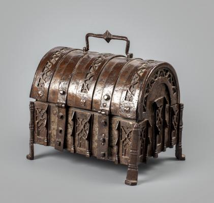 A Gothic money chest