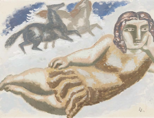 Woman and horse - Leendert (Leo) Gestel