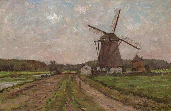 Landschap met molen - Rodolphe Wytsman