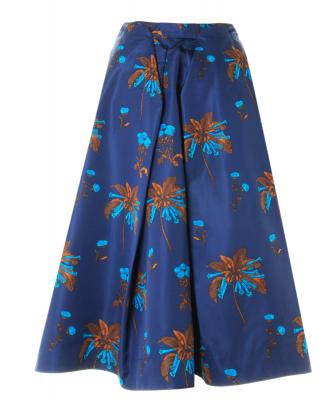 Prada Silk Floral Print Maxi Skirt - Prada