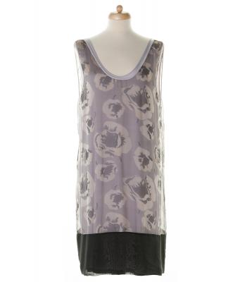 Dries van Noten Silk Sheer Overlay Dress - Dries van Noten
