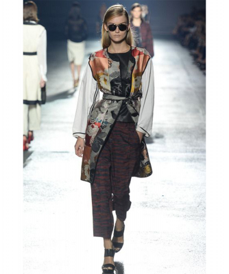 SS 2014 Dries Van Noten Runway Printed Jacquard Pants - Dries van Noten