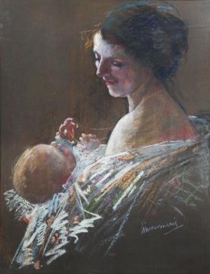 Mother with child - Simon Willem Maris - Simon Willem Maris