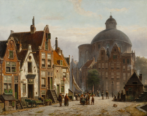 The Lutheran church in Amsterdam - Willem Koekkoek