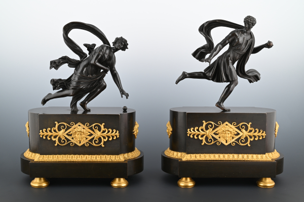 A pair bronze Empire sculptures