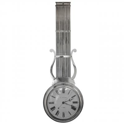 Een Franse nikkelen 'à double face' regulateur met slingerend uurwerk