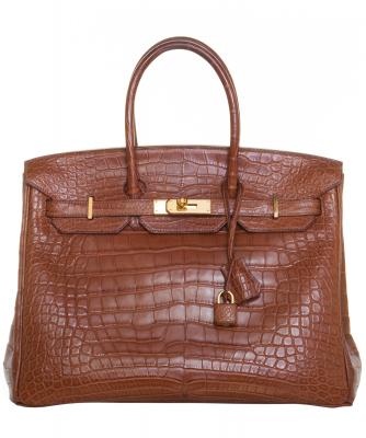 Hermès Marron d'Inde Matte Mississippiensis Alligator Birkin 35 GHW - Hermès