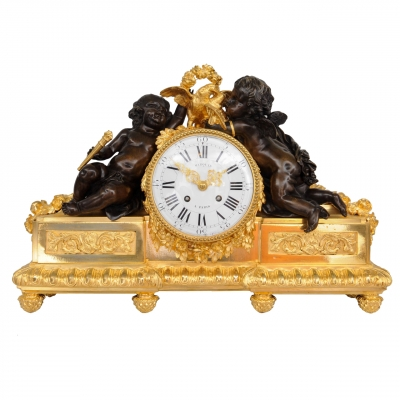 Impressive 19th century pendule, ca 1850