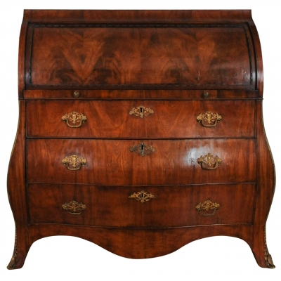 A very nice Dutch mahogany cylinder desk, circa 1770