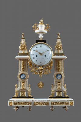 A French Louis XVI mantel clock portique Piolaine à Paris - Michel-François Piolaine