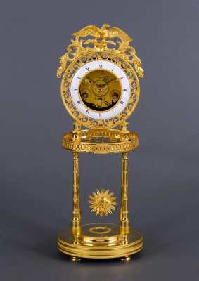A French skeleton clock