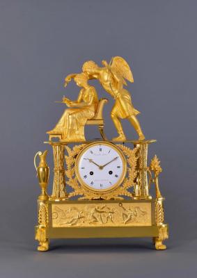 A large ormolu bronze Empire mantel clock Tarault à Paris