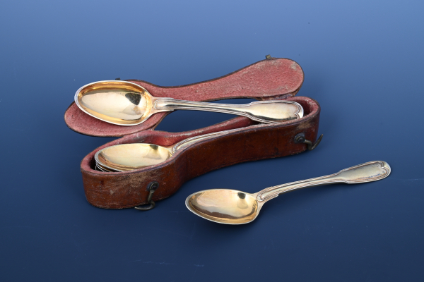 Travel case with six spoons