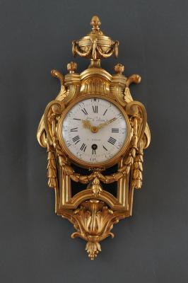 A French Louis XVI cartel d'alcove clock Atoine Coliau à Paris