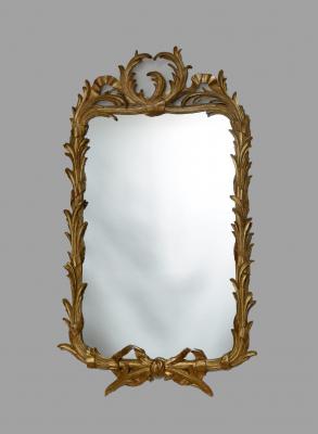 A French Louis XV-XVI transition, gilded mirror, around 1760