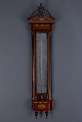A Dutch Louis XVI mahogany contra bak barometer Gebr. Lurasco in Amsterdam, 17050-1805
