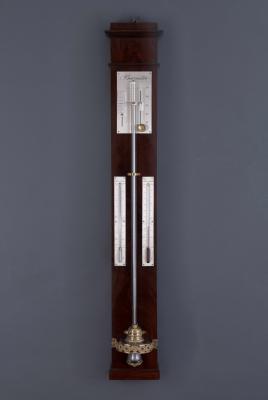 Een Franse stickbarometer, omstreeks 1830