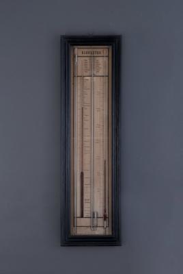 A French barometer with controller, Le Bleu Trenel de la Goar, around 1880