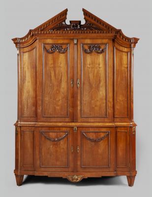 A Fine Dutch Louis Seize mahogany cabinet