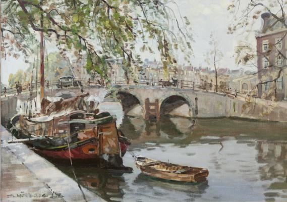 Keizersgracht hoek Amstel met magere brug - Daniel Muehlhaus