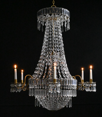 A cristal chandelier