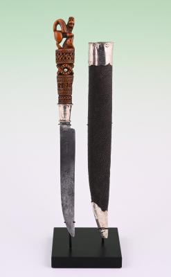 Knife in shagreen  pouch