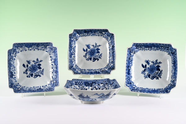 A set of four Chinese porcelain bowls