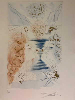 Salvador Dali, 'Le Baiser', the kiss - Salvador Dali