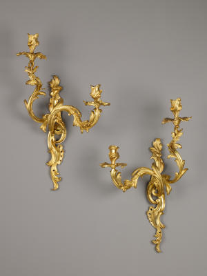 Pair of French Louis XV Appliques, after Nicolas Pineau