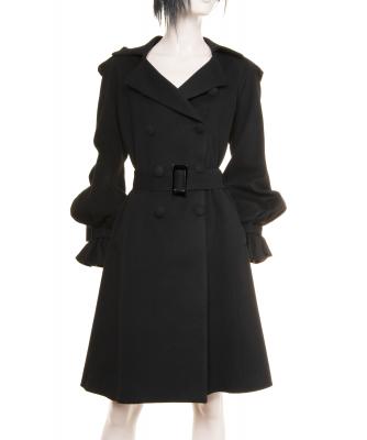 Takada Black Cashmere Blend Coat - Kenzo Takada