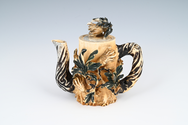A Chinese mammoth ivory teapot.
