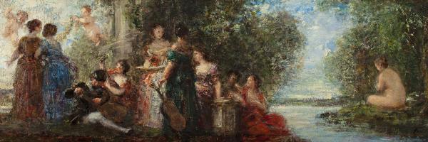 Musiciens dans un parc - Henri Fantin-Latour