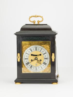 English black bracket clock Peter Garon