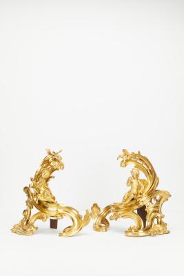 18th century Louis XV andirons