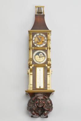 Rare 19th century fantasy wall clock