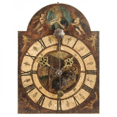 A South-German iron quarter striking chamber clock, circa 1680