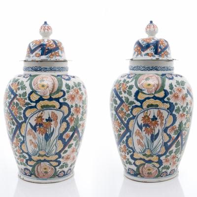 A Pair Dutch Delft Vases