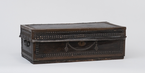 A Leather covered Wooden Travellingcase