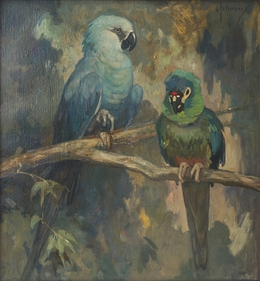 Painting of Two Birds by Cornelis Jan Mension