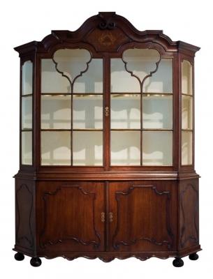 A Dutch Oak Display Cabinet